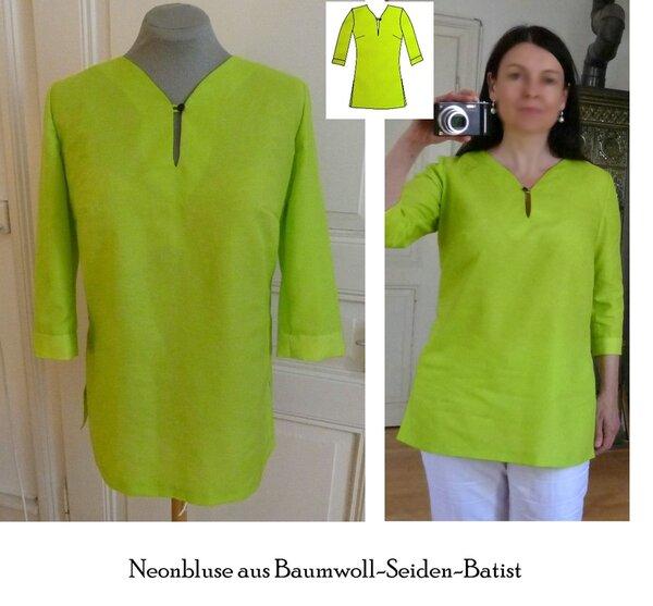 Eine neonfarbene Bluse