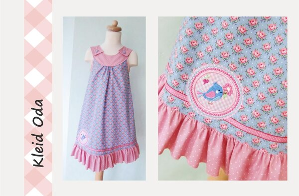 Einschulungskleid für meine Kleine (Kleid Oda von Farbenmix)