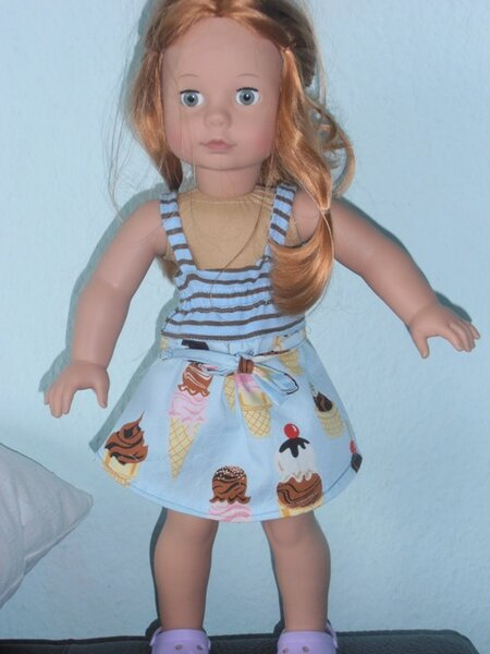 Neue Tunika nach Bizzkids für Puppe Gr.45cm