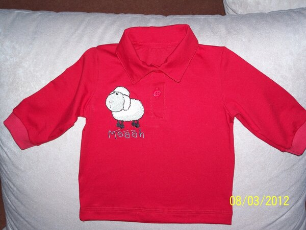 Langarmshirt mit Polokragen in Gr.68 nach Ottobre 1/2010