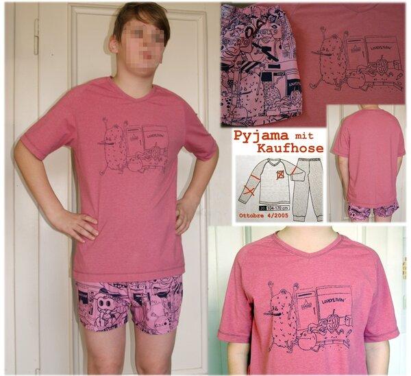 Pyjamaoberteil für Kaufshorts