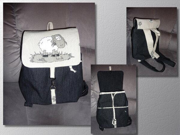Rucksack aus Jeansstoff