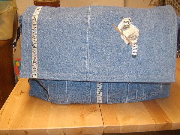 Tasche aus alter Jeans ohne Schnittmuster