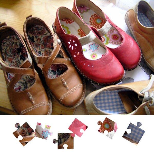 Lustige Einlagen für meine Schuhe.....