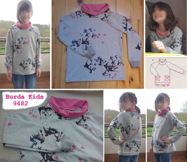 Sweatshirt Burda 9482