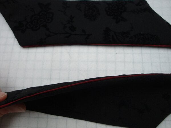 Taschenklappenndetail