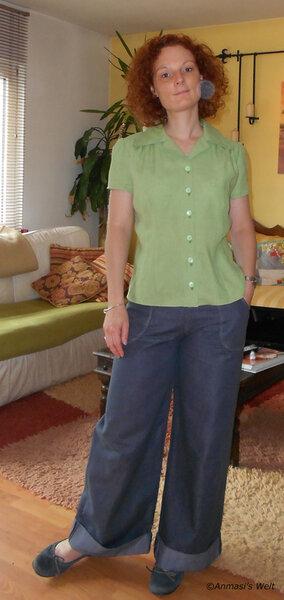 Quietschgrüne Bluse