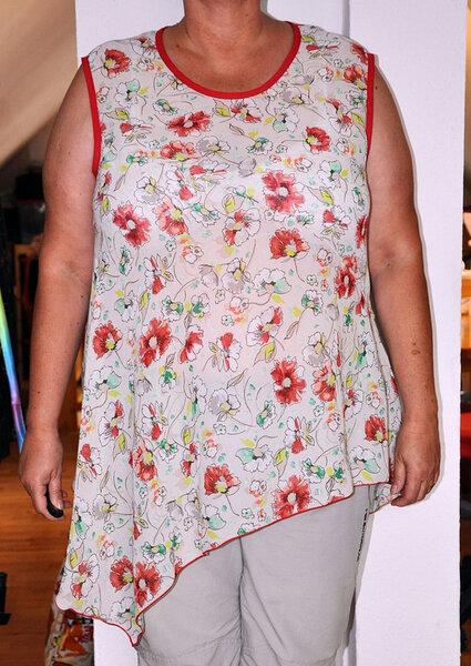 Tunika nach Vogue  9107