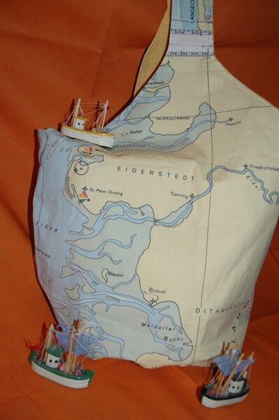 Seekarten - Tasche / Knotentasche