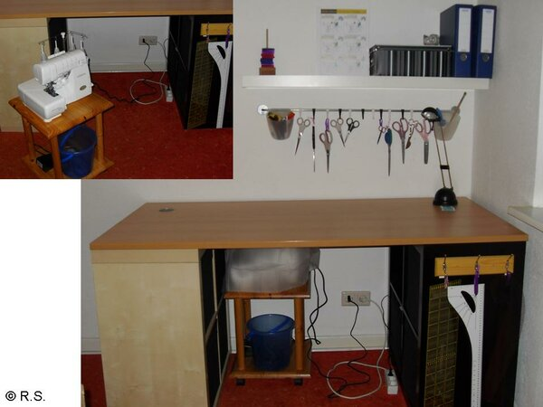 Mein neuer Zuschneide- und Overlocktisch