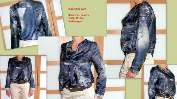 Bluse burda style 7220 Model B