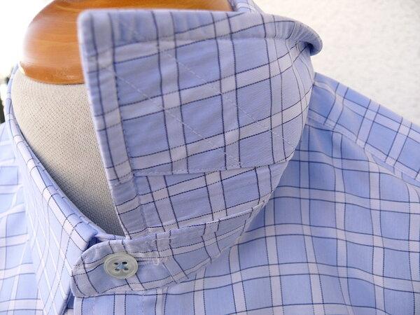 Hemd Sea Island Cotton fixe Arbeit Kragen Unterseite Stäbchen