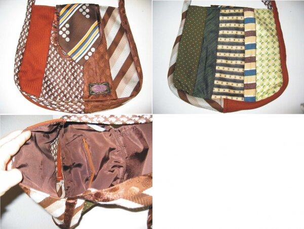 Tasche aus Krawatten