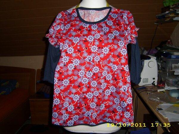 Shirt Lea in Doppeloptik Gr 32/34