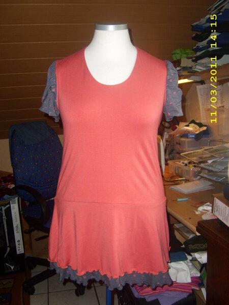 Shirt - Kleid , Modell 5 aus der Ottobre   2/2011