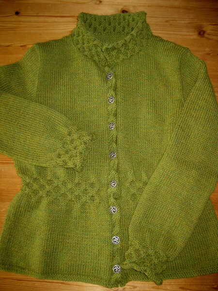 Strickjacke nach Top-Down Sweaters von Ann Budd