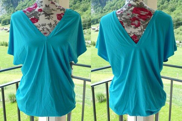 Shirt Burda vorne und hinten