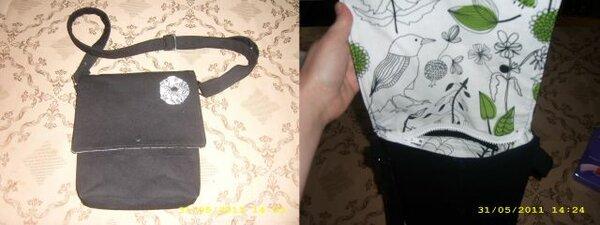 einfache Tasche aus schwarzem Jeans