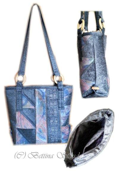 Silbergraue Tasche