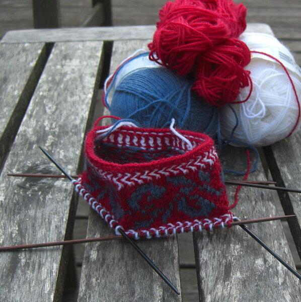 Traditional Stitch Motifs Sox