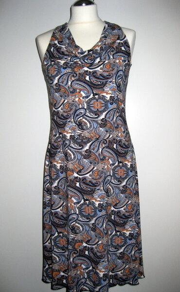 Kleid mit Wasserfallausschnitt Garconne K-063 weiteres Bild