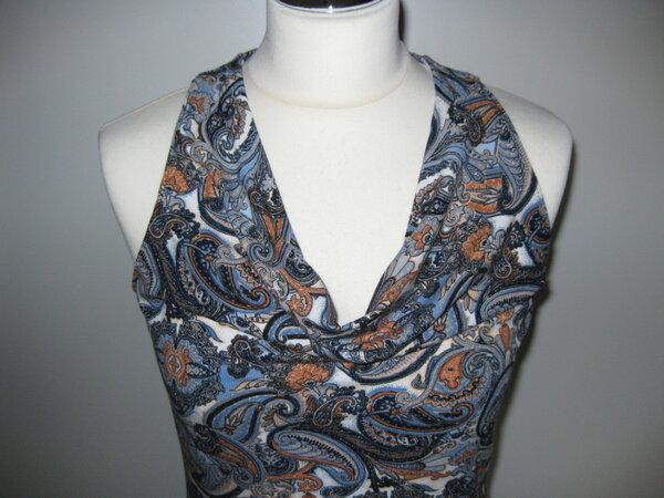 Kleid mit Wasserfallausschnitt Garconne K-063