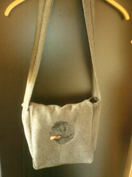 Tasche mit Neufundländer