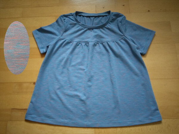 T-Shirt hellblau-meliert