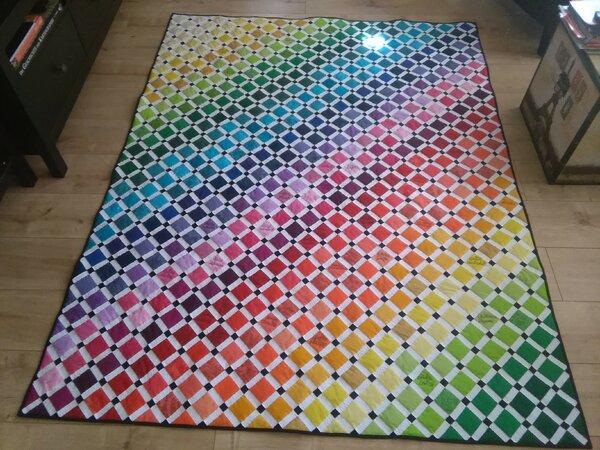 Erinnerungsquilt / Regenbogen-Quilt