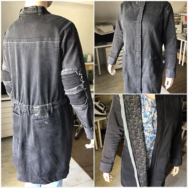 Alte Jeans wurden zur Jacke