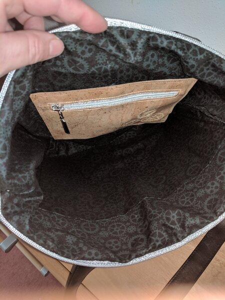 Innenleben Flach Tasche