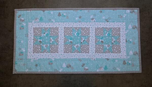 großes Patchwork Tischset (ca. 35 x 75 cm)