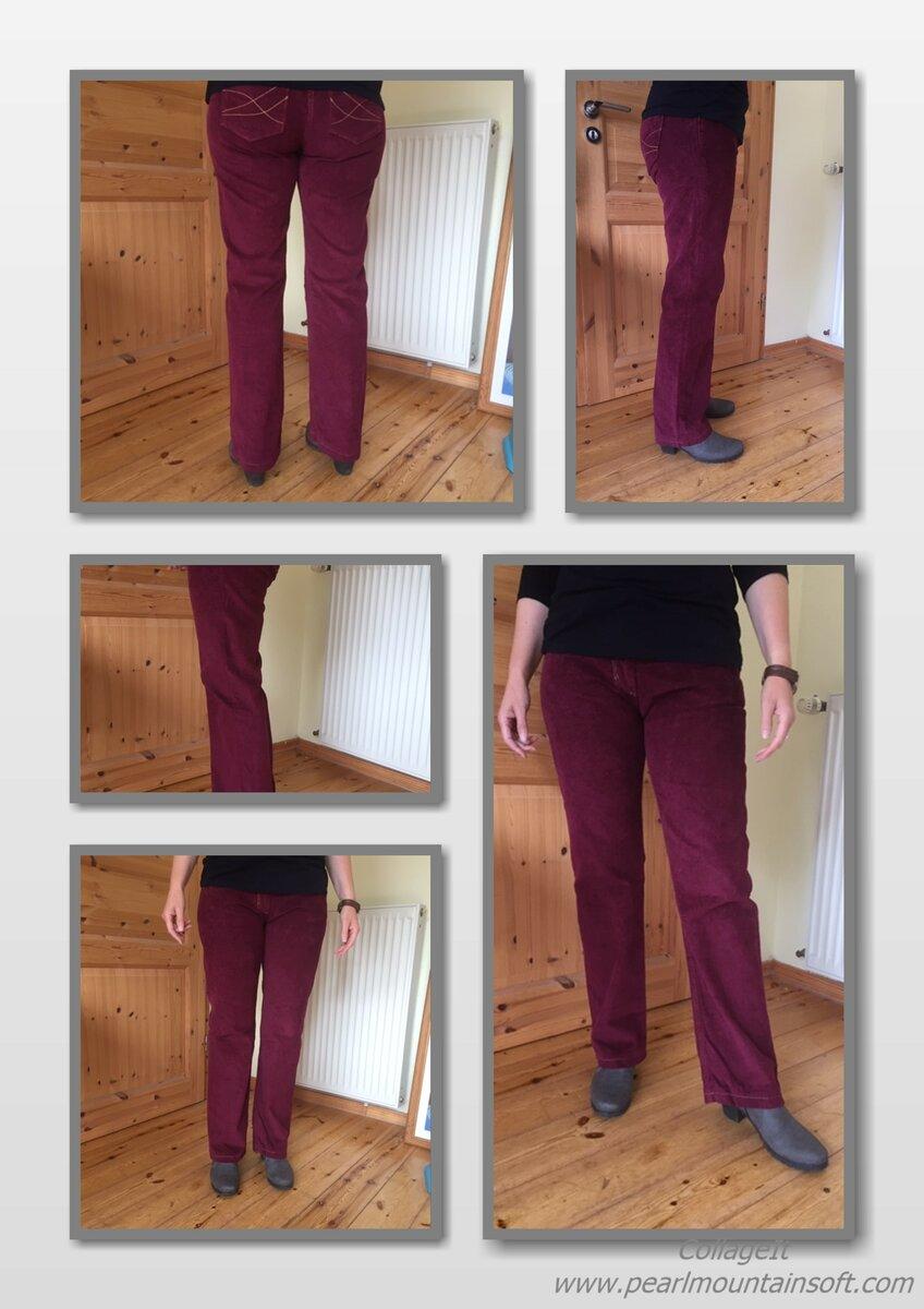 Cordhose nach einem geklonten Jeans-Schnitt