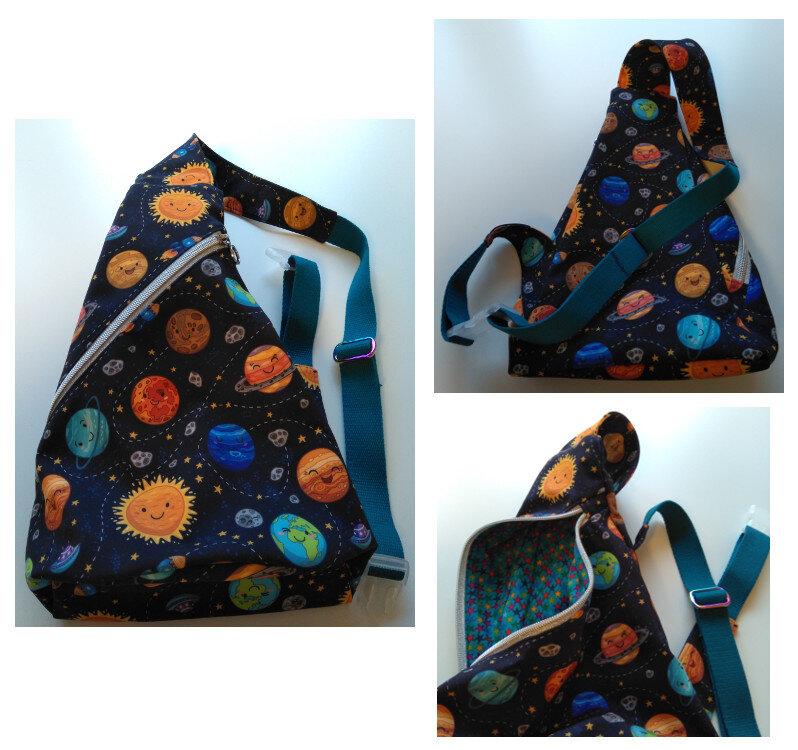 Crossbag Softshell Planeten (Taschenspieler 2/farbenmix)