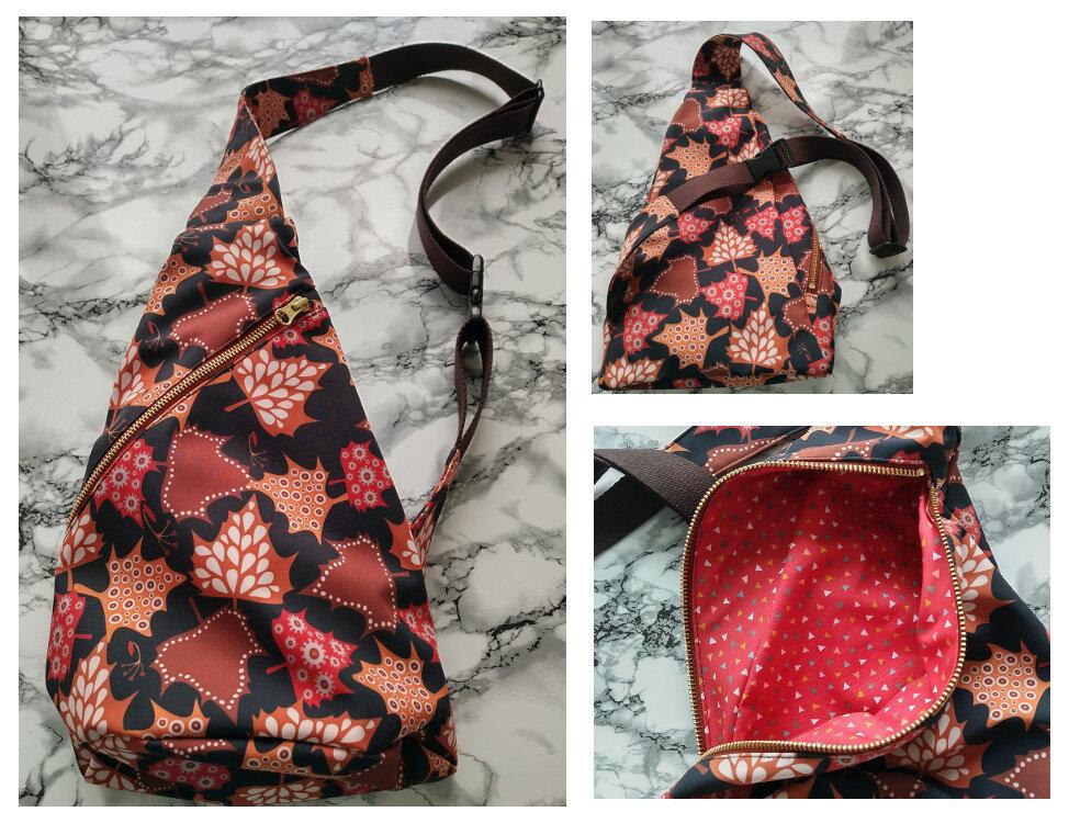 Crossbag Softshell Ahornblätter (farbenmix/Taschenspieler 2)