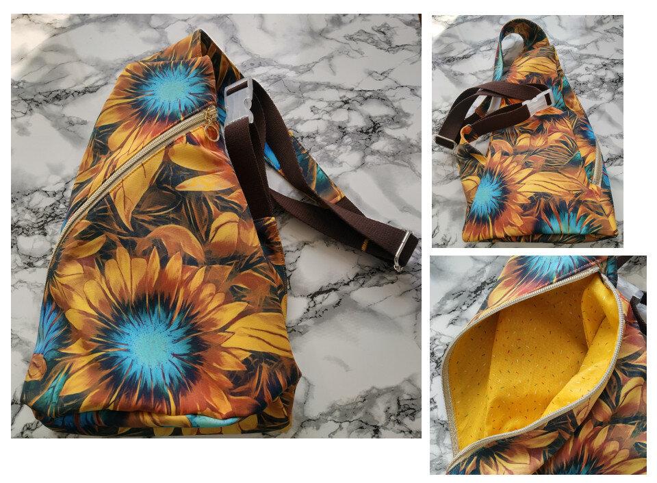 Crossbag Softshell Sonnenblumen (farbenmix/Taschenspieler 2)