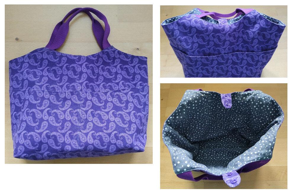 Shopper Cord Paisley lila (Bernina-Blog)